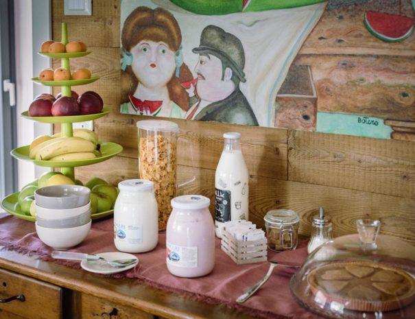 breakfast at la mucca pelosa b&b